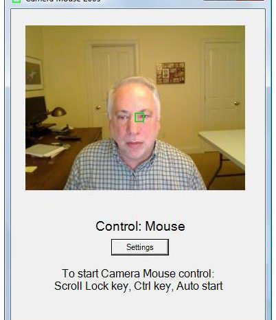 Camera Mouse : le Head Tracking qui pilote votre souris.