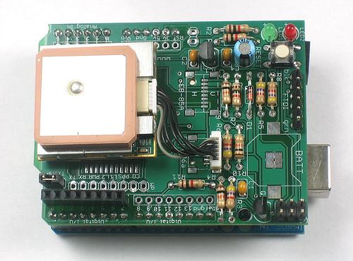 GPS Shield : Enregistreur autonome de position GPS.
