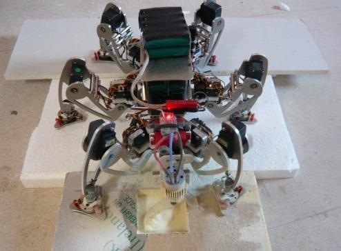 Robosavvy : Le robot graveur sur pattes.