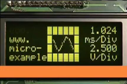 LCDScope : Oscilloscope à base de pic et lcd.