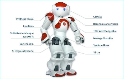 Nao : Le concept du robot humanoïde.