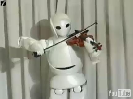 Robot Violoniste : Toyota ne fait pas que des voitures...