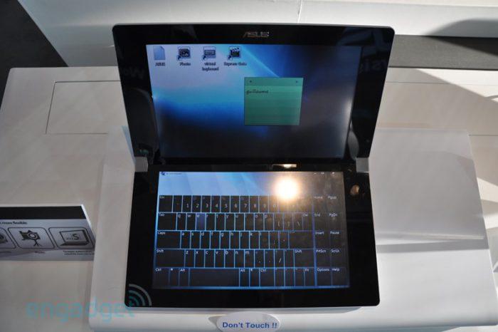 Le portable Asus à double écran tactile.