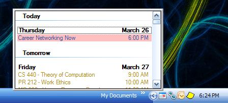 Gminder : le notificateur de d'évenement de Google Calendar.