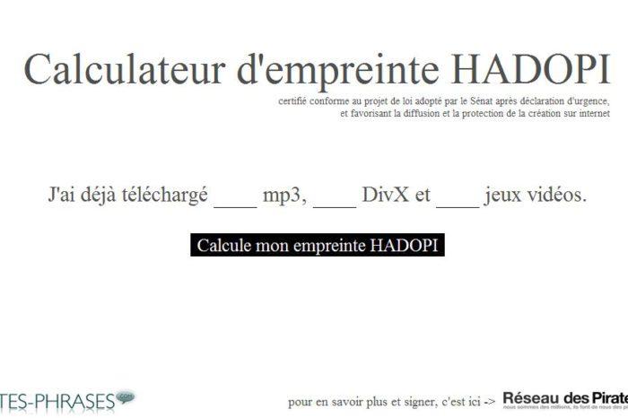Et si la loi HADOPI est adoptée, calculez votre empreinte...
