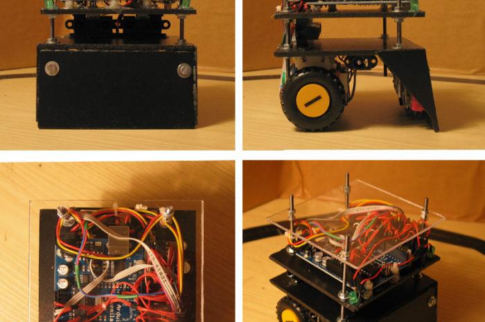 Arduino Minisumo 01 : Le Robot Sumo qui débarrasse votre table.