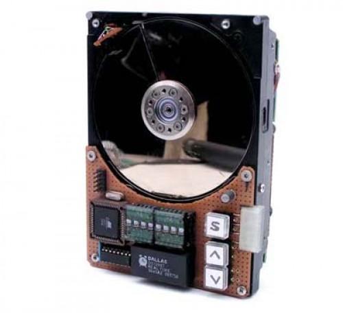 Recyclez votre disque dur en horloge POV.