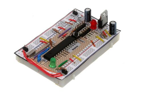 Réalisez un montage compatible Arduino avec une platine d'essai.