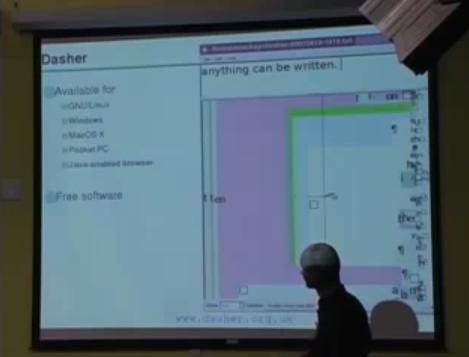 Dasher : La saisie de texte intuitive sur ordinateur.
