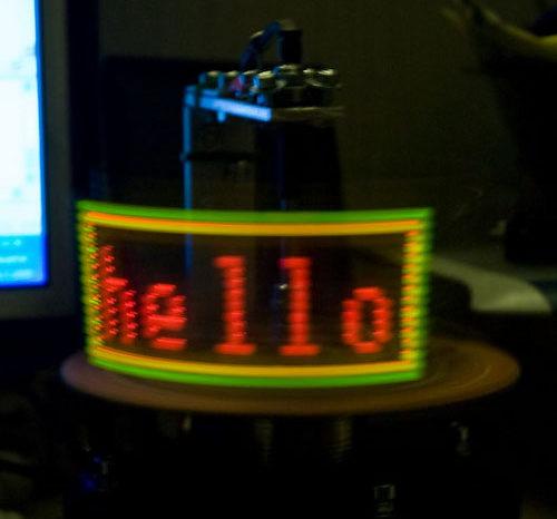 POV : Afficheur à LED Rotatif, à la limite de l'hologramme.
