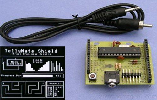 TellyMate Shield : Ajoutez la vidéo à votre kit Arduino.