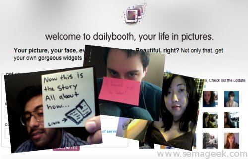 DailyBooth : Un site de micro-blogging en photos.