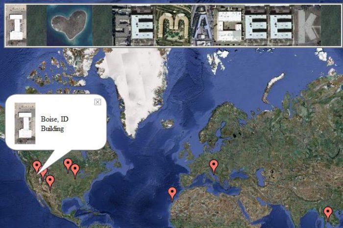 geoGreeting : Envoyez un message écrit avec des bâtiments.