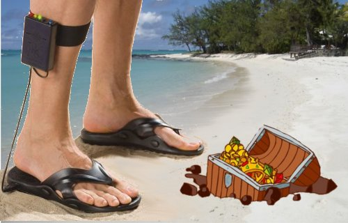 Des tongs de plage pour devenir riche.