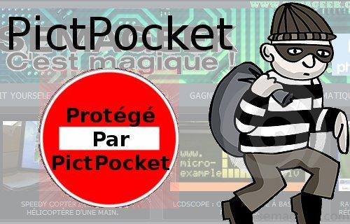 PictPocket : un plugin WordPress qui identifie et bloque les voleurs de contenu.