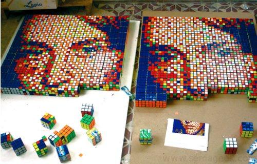 RubikCubisme : Quand l'art rencontre le Rubik's Cube...