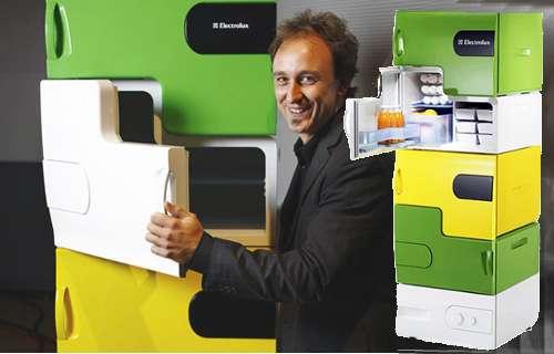 Electrolux sort un frigo modulable de type Lego.
