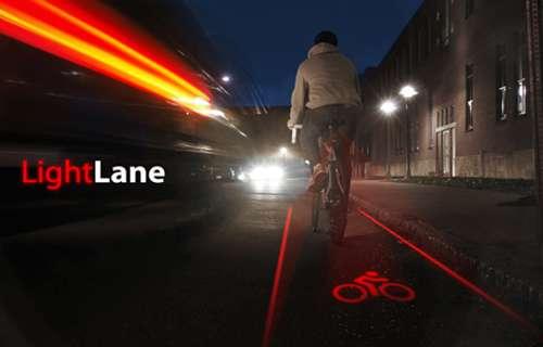 LightLane : Un laser pour la sécurité des cyclistes.