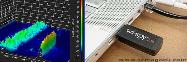 Wi-Spy : Un analyseur de spectre USB 2.4 GHz.