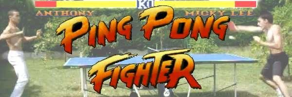 Un combat de Street Fighter au Ping Pong.