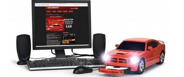 Un PC au design d'une Dodge Charger SRT-8.