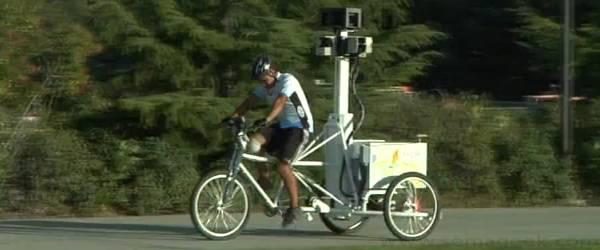 Google Street View : Un vélo pour explorer les sentiers.