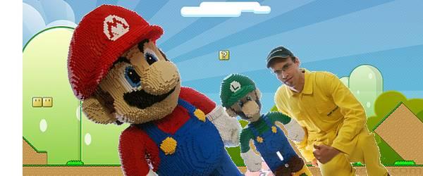 Un Mario Géant en Lego en vente sur Ebay.
