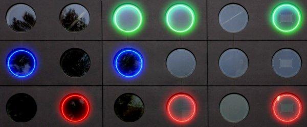 BBC : Une horloge binaire géante.