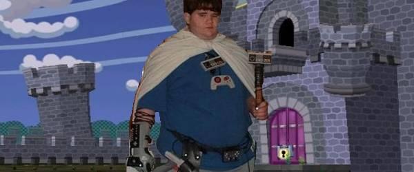 Le roi de la cartouche Super Nintendo se fait un trône.