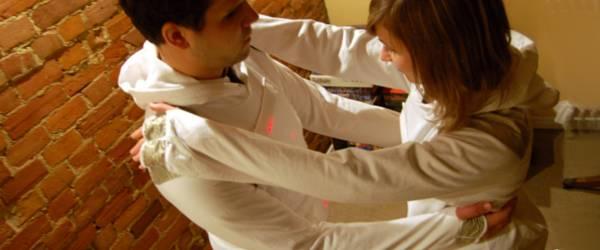 Pong Prom : Un vêtement interface de jeu multi-joueur.