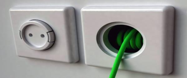 Un concept de rallonge électrique incorporé dans une prise murale.