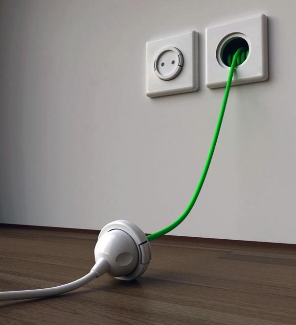 Un concept de rallonge lectrique incorpor dans une prise murale semageek - Prise electrique murale ...