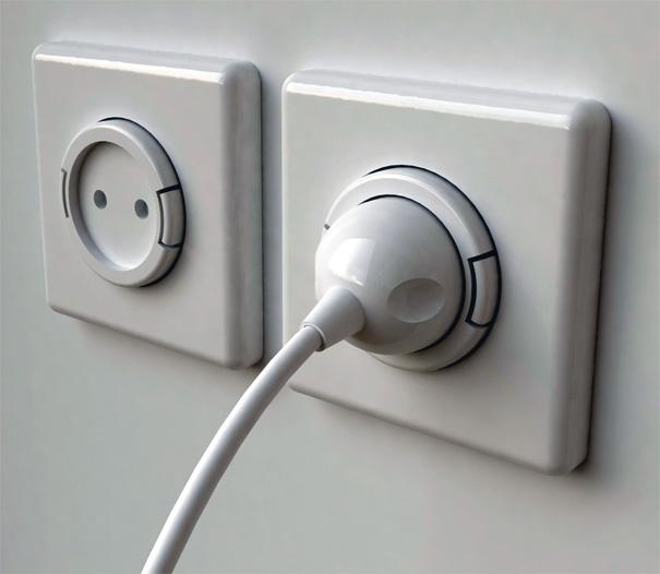 Un Concept De Rallonge électrique Incorporé Dans Une Prise