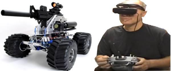 SWAT BOT : Un Robot armé d'un fusil PaintBall
