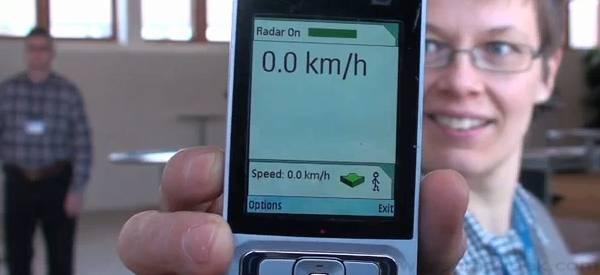Nokia développe un radar pour les téléphones mobiles.