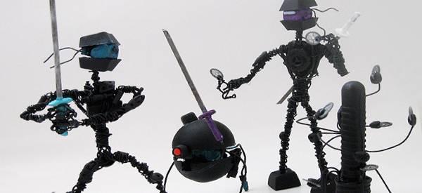 Vidéo : Recycler des déchets pour fabriquer des Robots.