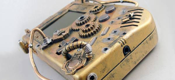 Case Mod d'une Gameboy en version SteamPunk.