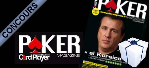 Gagnez 1 an d'abonnement à Poker Magazine avec Card Player France et Semageek