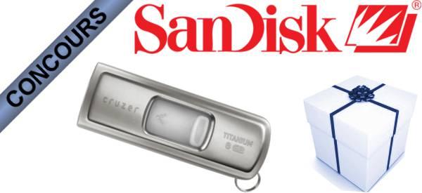 Gagnez des clés USB Sandisk Ultra Cruzer Titanium avec Semageek.