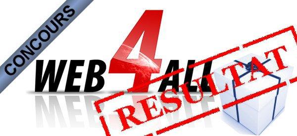 Résultat du concours hébergement Web4All.