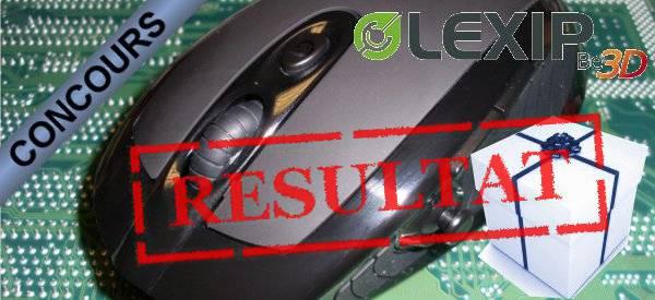 Résultat du concours Souris 3DM Advanced Lexip.