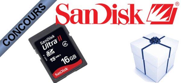 Gagner des Cartes SDHC Sandisk Ultra II de 16 Gb avec Semageek.