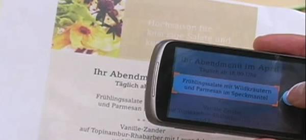 Goggles : Google intègre la traduction instantanée de texte capturé par un mobile.