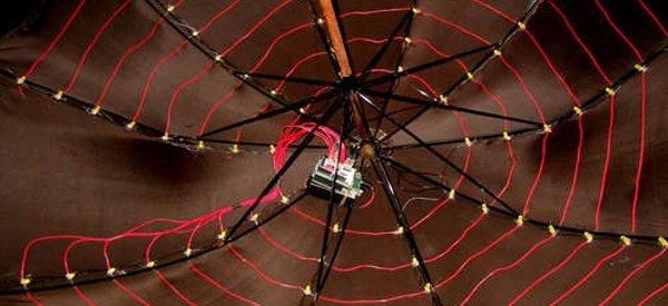 DIY : Un parapluie à LED contrôlé par un kit Arduino.