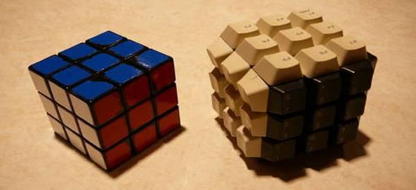 DIY : Fabriquer un Rubik's Cube bien Geek à l'aide d'un vieux clavier.