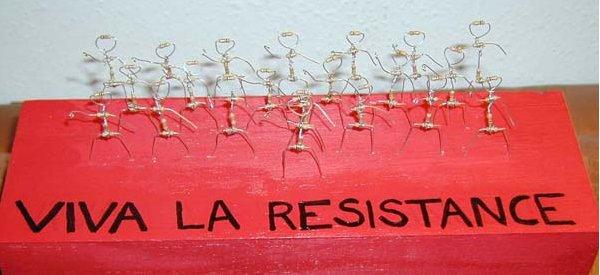 DIY : Recycler ses resistances en sculpture révolutionnaire.