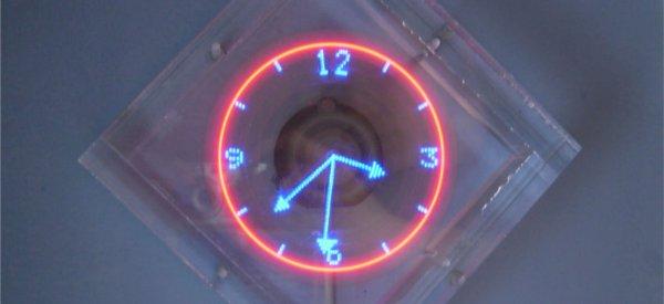 DIY : Une horloge POV dans un bloc de plexiglas.