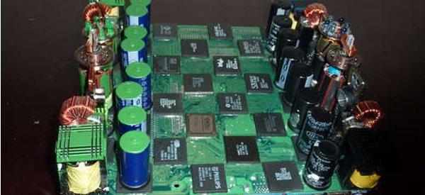 DIY : Fabriquer un jeu d'échec avec de vieux composants électroniques.