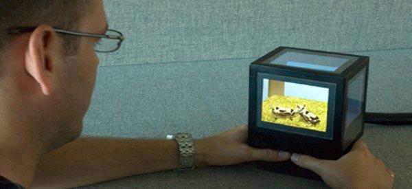 pCubee : Un cube interactif 3D avec 5 écrans LCD