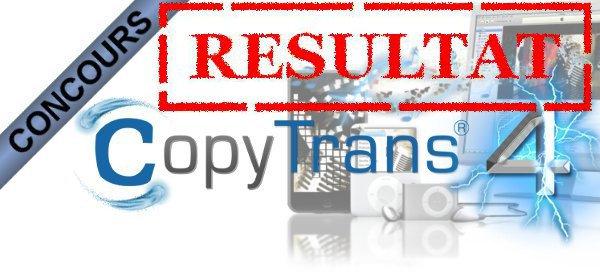 Résultat du concours CopyTrans.